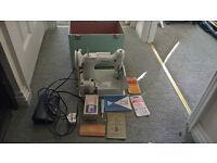 antique singer sewing machine 221 featherweight CAT CAK 9-12