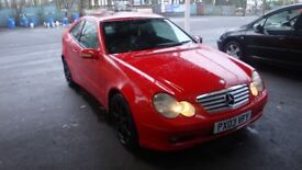 Mercedes coupe c220 cdi se auto Red diesel