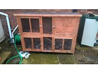 Large guinea pig / rabbit hutch plus extras