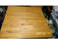 IKEA solid beech table and 2 chairs