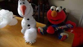 Talking Olaf, Singing Elmo, Furry light