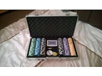 poker chip set with lockable case