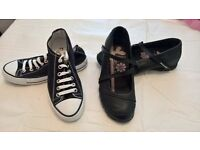 Ladies Converse and Skechers-brand new