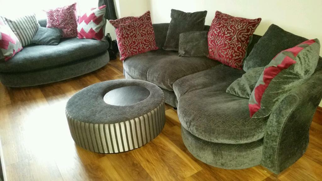 Dfs Elise Vgc 4 Seater Chaise Longue Cuddle Sofa And