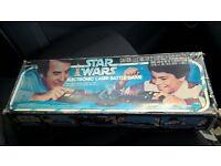 vintage star wars electronic laser battle game in original box