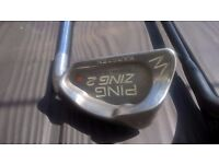 Ping i20 rescue club and Ping Zing wedge