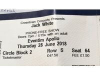 2 x Jack White Tickets - Hammersmith Apollo 28th June 2018