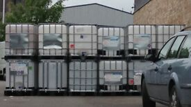 600 Litre IBC Bulk Liquid Storage Containers Tank, Good Condition
