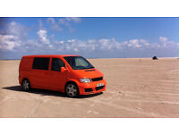 Groovy bright orange campervan with loads of extras, ideal for city living and weekend adventures