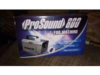 FOG MACHINE PRO SOUND 800 REMOTE BRAND NEW BOXED