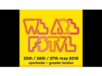 We are festival tickets for Saturday