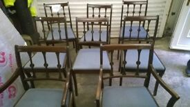 Dining Table Chairs RARE 8 Matching 2 of are Carvers Lovely Set