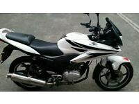 Low mileage 62 plate Honda CBF 125 with Devil exhaust