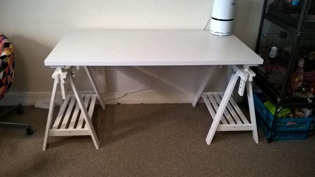 IKEA FINNVARD/LINNMON Adjustable Height Trestle Table