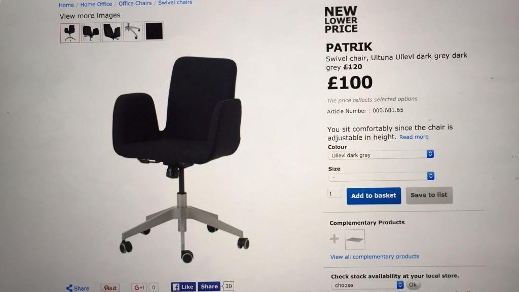 Captivating Dark Grey IKEA Patrik Chairs