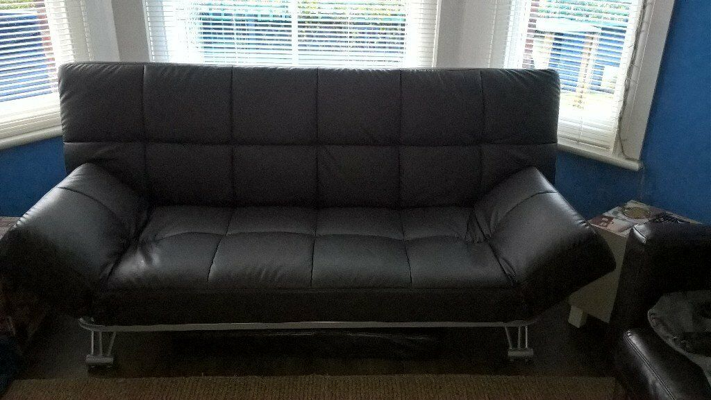 Sofa Bed, Julian Bowen, Faux Brown Leather