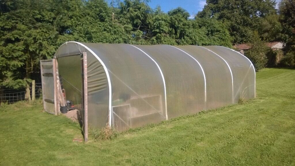 Polytunnel 5m x 7.5m 5 x Aluminium sections 2 x Double doors & Polytunnel 5m x 7.5m 5 x Aluminium sections 2 x Double doors | in ...