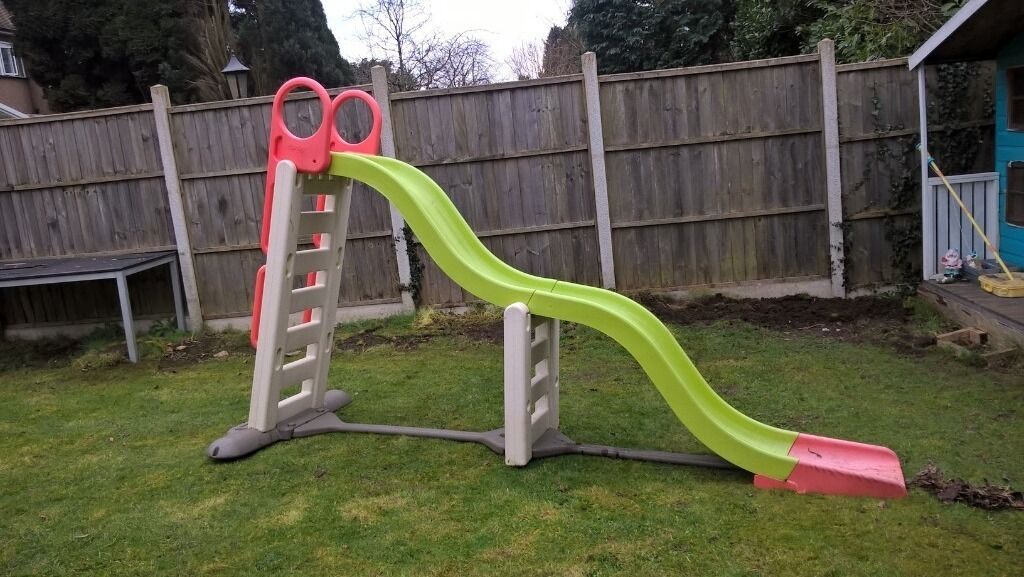 Captivating Smoby Megagliss 2 In 1 Mega Wavy Garden Childrens Slide. Rrp £240 Selling £