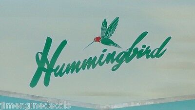 Hummingbird Vintage Travel Trailer Logo Printing 1958 Decal Sticker
