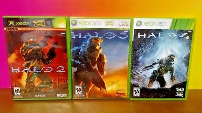Halo 2 3 4 - Microsoft Xbox 360 Games - Tested 3 Game Bundle Lot Excellent Discs comprar usado  Enviando para Brazil