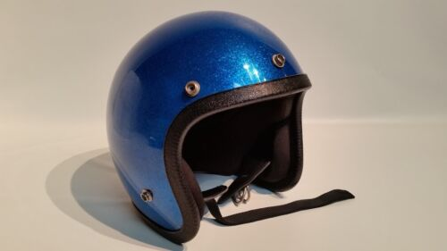 Vintage Norcon Motorcycle Blue Flake Helmet Youth Large