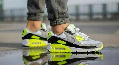 Nike Air Max 90 OG 2020 Volt White Gray Black CD0881-103 Running Shoes Men's NEW