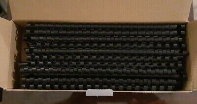Black Plastic Binding Combsspines 19-hole 38 Inch10mm 100-pack