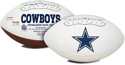 NFL Dallas Cowboys Signature Series Team Full Size Football Brand New