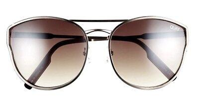 QUAY AUSTRALIA Cherry Bomb Cat Eye Sunglasses 60-18-135 Metal Frame >NEW