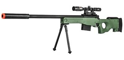 300 FPS - Airsoft Sniper Rifle Gun - Tactical Setup - 37 3/4 Inch Length -Green-