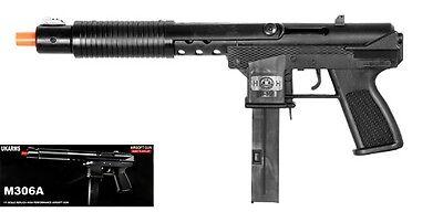 M306A TEC 9 Spring Airsoft UZI Rifle Gun BLACK - Powerful 355 Feet Per Second