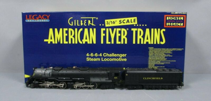 American Flyer 6-48089 S Clinchfield 4-6-6-4 Challenger Steam Loco w/LEGACY EX
