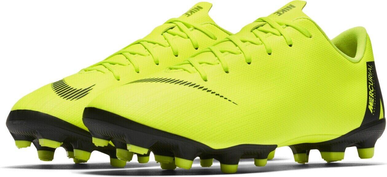 Nike Vapor 12 Academy GS FG/MG neon gelb/schwarz Kinder Fußballschuhe AH7347-701