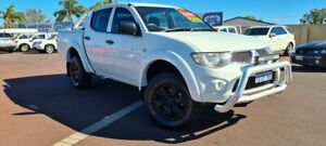 2012 Mitsubishi Triton MN MY12 GL-R Double Cab 4x2 White 4 Speed Automatic Utility East Bunbury Bunbury Area Preview