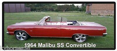 1964 Malibu SS Convertible Refrigerator - 1964 Malibu Convertible