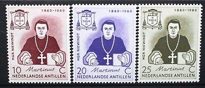 NETHERLANDS ANTILLES 1960 Mgr MJ Niewindt Death Centenary. Set of 3 MNH SG417/19