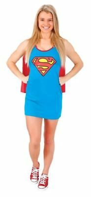RUBIES Super Girl Costume Womens Tank Dress & Cape Superman DC COMICS Sz LARGE # ()