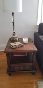 Two Antique End Tables.
