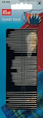 Prym Agujas Combi Tarjeta (128 400) Costura, Bordado, Zurcido Agujas Y Roscadora