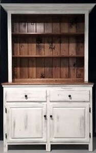 Kitchen Hutch Distressed Pine