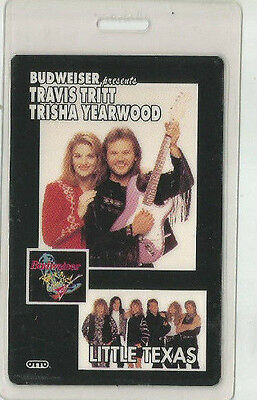Travis Tritt Trisha Yearwood Budweiser All Access Laminate Pass