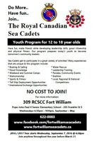 Join 309 Fort William Sea Cadets! Ages 12-18