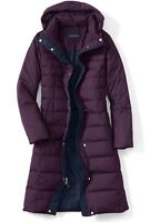 Brand New with Tags Lands End Chalet Down Long Coat (plum, xs)