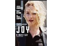 Joy dvd (Jennifer lawrence Oscar film)