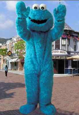 New Sesame Street Elmo Cookie Monster Mascot Costume Adult Fancy Clothing Outfit