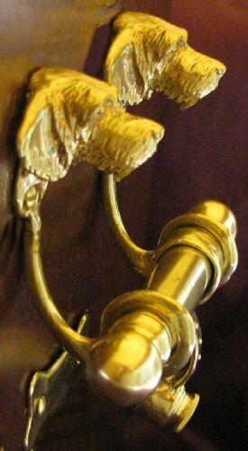 GWP, GERMAN WIREHAIRED POINTER Bronze DUET Door Knocker