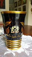 Royalty Commemorative Coronation Ruby Glass Vase w/ gold overlay