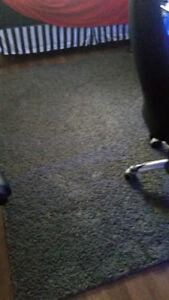 grand tapis poil semi long gris foncer payer pres de 200.00