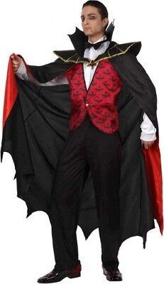 Déguisement Homme VAMPIRE Dracula Noir Rouge M/L Halloween NEUF Pas cher - Halloween Pas Cher