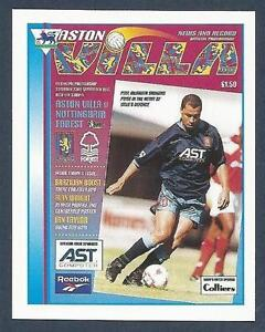 MERLIN-1996-PREMIER-LEAGUE-96-475-ASTON-VILLA-V-NOTTINGHAM-FOREST-PROGRAMME